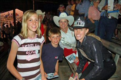 Laramie River Dude Ranch guests enjoying Cheyenne Frontier Days Rodeo