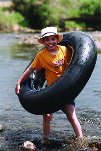 Fun and safe, the water is only a few feet deep.  Photo copyright 2002, Sean Smith.