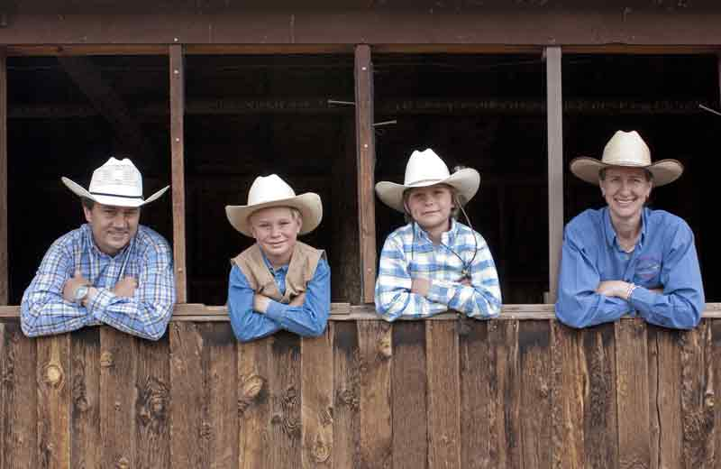 Dude ranch hosts the Burleigh family.