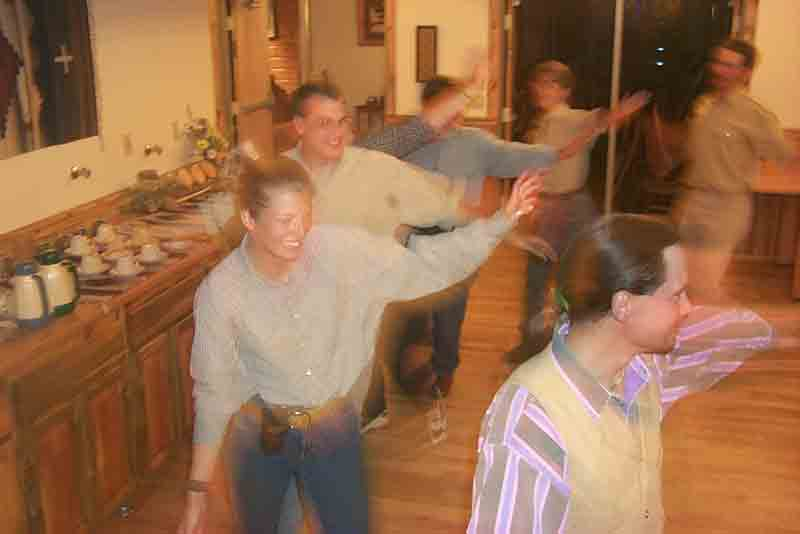 Square dancing at Laramie River Dude Ranch