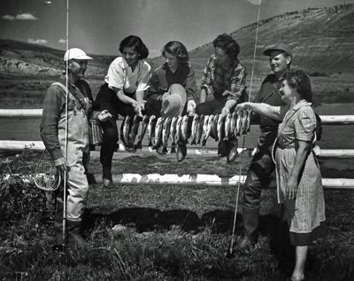 Families have enjoyed fishing on the dude ranch since 1937!
