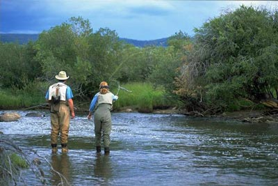 Fly fishing instruction is provided once a week at LRR.