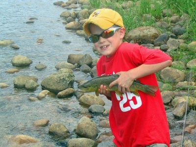 Kids just love to catch fish.